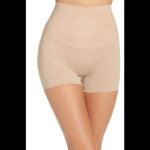 NWT SPANX Shape My Day Girl Shorts Nude Large